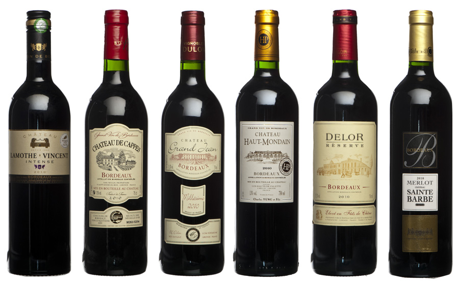 photo vin bordeaux millesime 2010