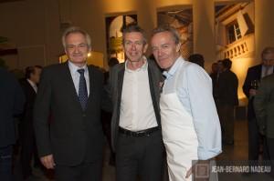 Jean Guy Hulblot, Alain Moueix et Alain Passard