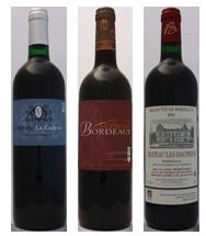 3 Bordeaux Rouge Millésime 2010 issus de raisins de l'agriculture biologique.