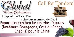 Exportateur recherche vins français