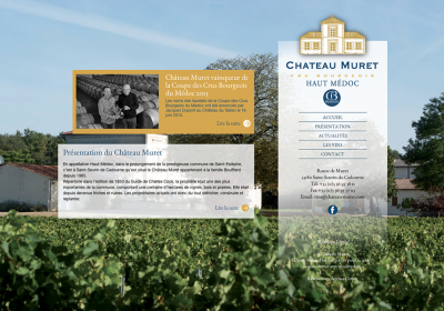Site Internet du Château Muret