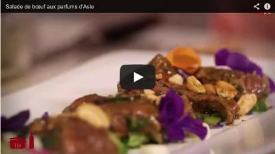 Accord Bordeaux Rosé et Salade de Boeuf aux parfums d'Asie