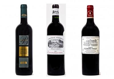 3 nouveaux Talents de l'appellation Bordeaux Supérieur Rouge millésime 2012