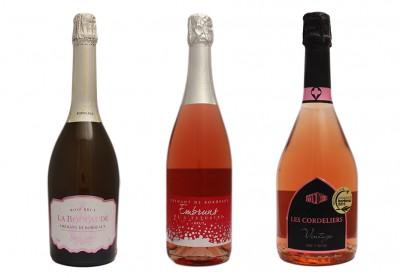 3 Crémants de Bordeaux Rosé
