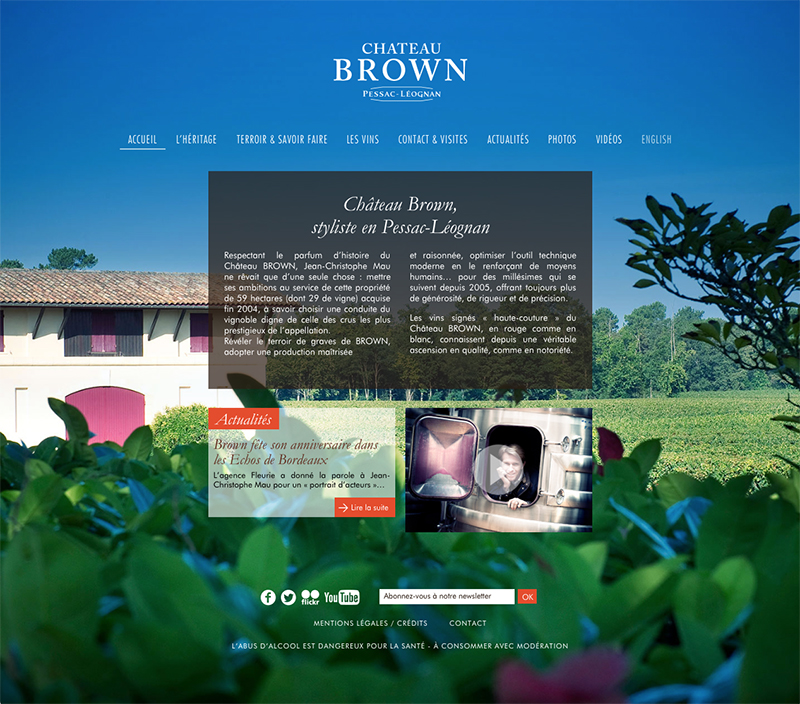 SiteSite  Internet du Château Brown