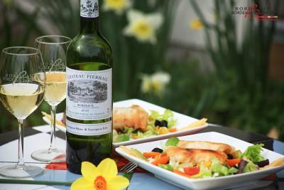 Salade Cabillaud et Bordeaux Blanc