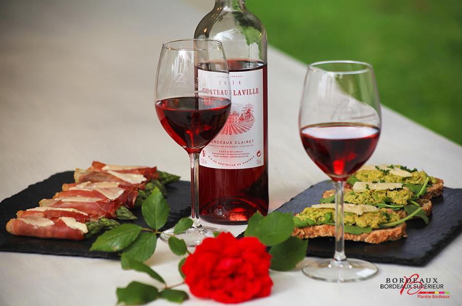 Taspas d'Asperges et Bordeaux Clairet