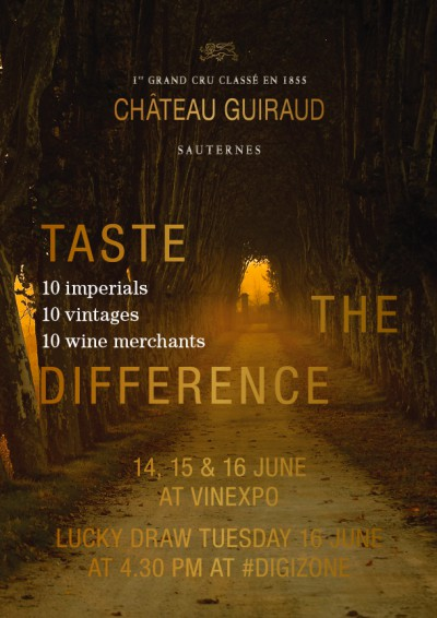 Vinexpo Prize Draw – Château Guiraud, Taste the Difference