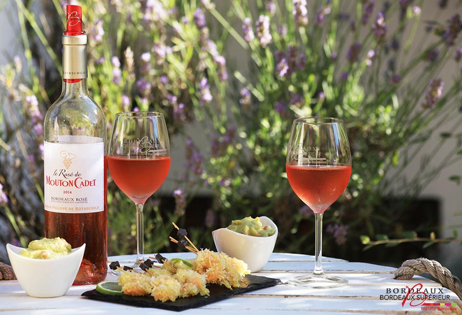 Crevettes et Bordeaux Rosé