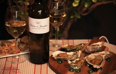 Huîtres Chaudes gratinées au foie gras