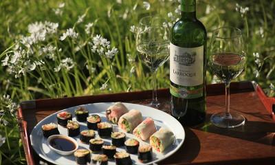 Makis printanier et Bordeaux Blanc