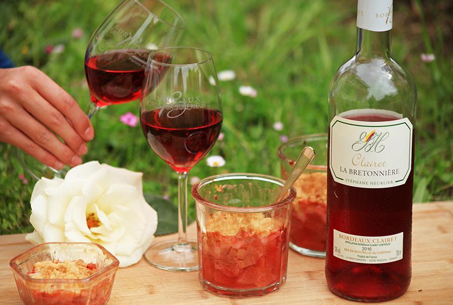 Crumble Fraise & Bordeaux Clairet