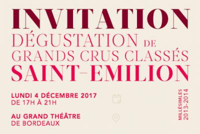 Dégustation Grands Crus Classés de Saint-Emilion